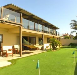 Backyard with 7-Hole Putting Green and Hammock Which Enjoys Ocean Views - Point Loma estate vacation rental photo