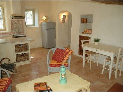 Living room and kitchen - Gite in Provence