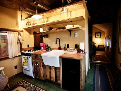 Bunkhouse kitchen. This new addition was added summer of 2011.