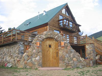 luxury 6 bedroom mountain cabin between angel fire and red