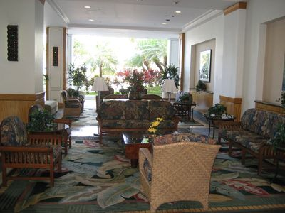 Beautiful open air lobby