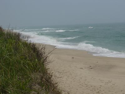 "Madaquecham Beach on a ""Foggy"" Day."