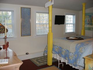East Orleans house photo - Bedroom has a very comfortable 4 poster Queen size bed