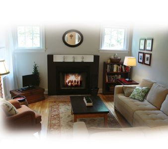 Cozy livingroom with fireplace