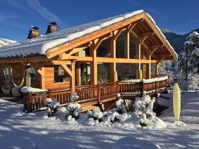 Luxurious design chalet facing Mont Blanc on the slopes of St Gervais Megeve