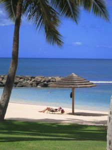 Wow ! You won't find this solitude in Waikiki. Just steps from your villa.