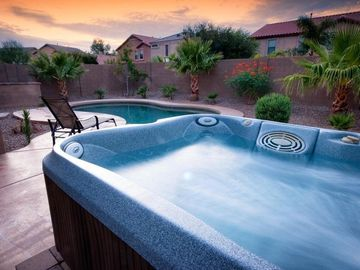 San Tan Valley house rental - Beautiful relaxing spa and lovely heated pool await you.