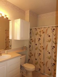 Kissimmee condo rental - Bathroom with tub and shower...