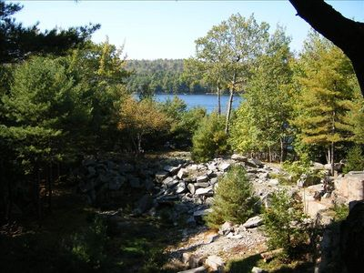 Echo Lake and quarry from deck