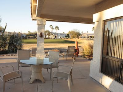 Rio Verde house rental - View to 7th Green on White Wing