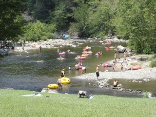Tubing in the Little River - Gatlinburg condo vacation rental photo