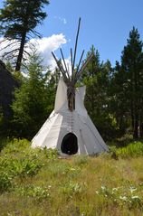 Lake Roosevelt house photo - Primative teepee rental on top of property overlooking Lake Roosevelt