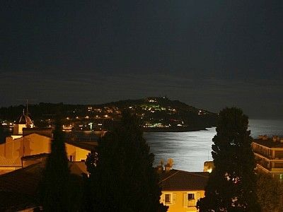 Moon light on the Bay from the terrace.