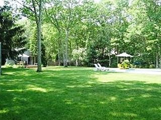 East Hampton house photo - Park like private yard