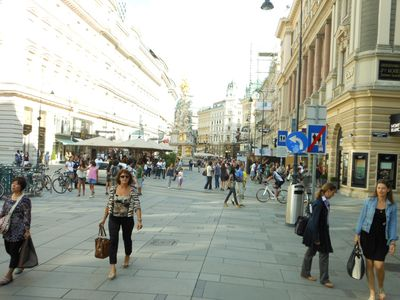 Pedestrian zone GRABEN direct beside St.Stephans Cathedral and Kaerntnerstrasse
