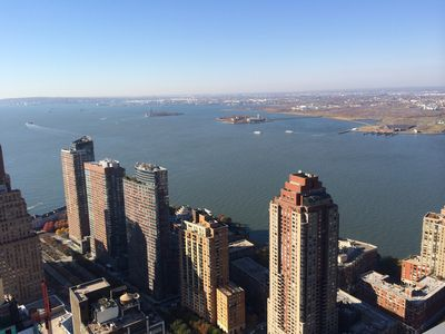 New York Bay seen from Rooftop