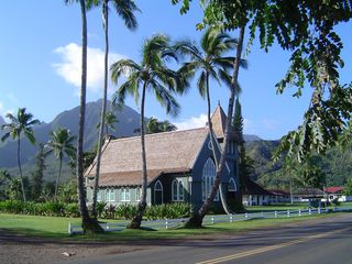 "Princeville house photo - Wai`oli Hui`ia Church ""i ka poli o Hanalei - in the heart of Hanalei"""