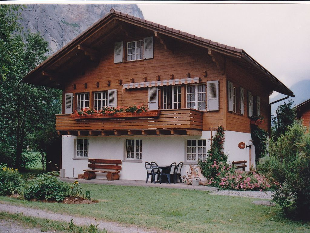 Holiday apartment in swiss chalet in the valley 86343 for Swiss chalet house plans
