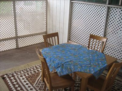 Screened lanai room for alfresco dining