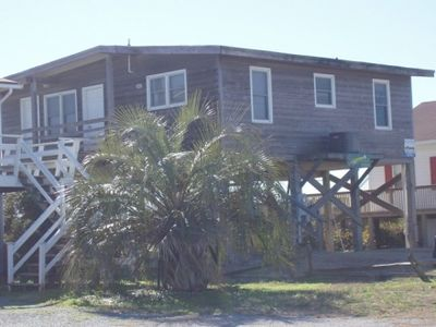 Oak Island cottage rental - Front of house from the road