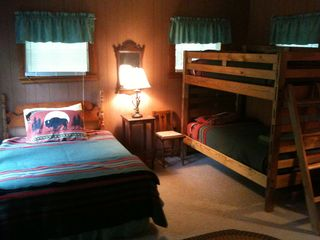 Pilot Knob cottage photo - Guest Cottage - One Queen bed and one bunkbed. Lake views