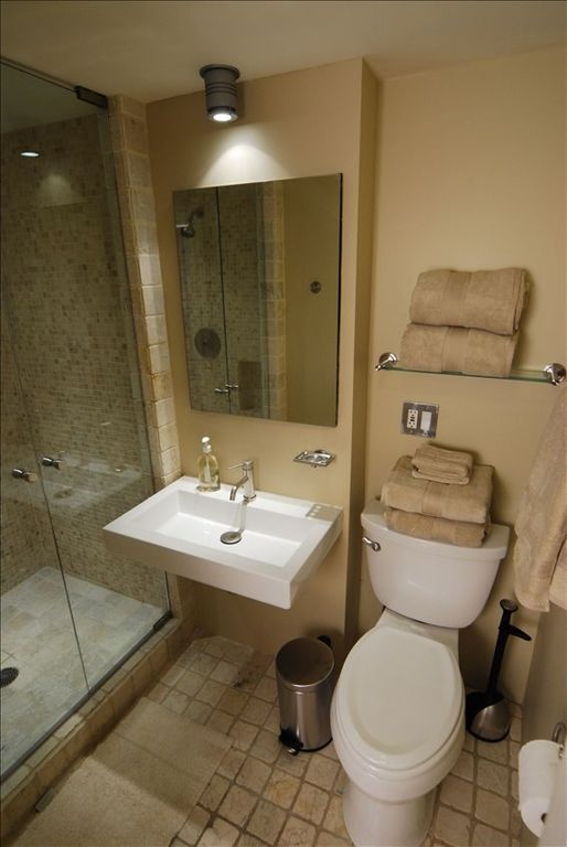Full bathroom on lower level.