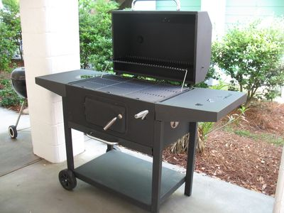 Large charcoal grill is available for you use.