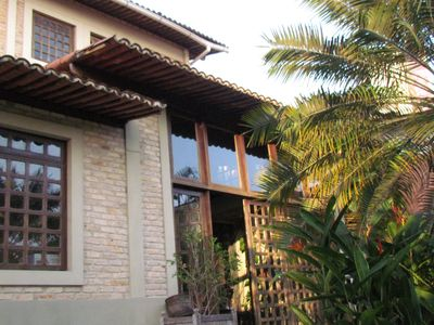 charming, spacious home with lots of greenery and overlooking the sea in Ponta Negra