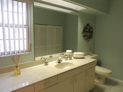 First floor, powder room