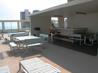 Rooftop bar and BBQ area great for entertaining friends and family