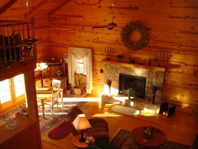 Greenbrier County lodge rental - Vista View Lodge - Your instant warmth and relaxation upon entering!