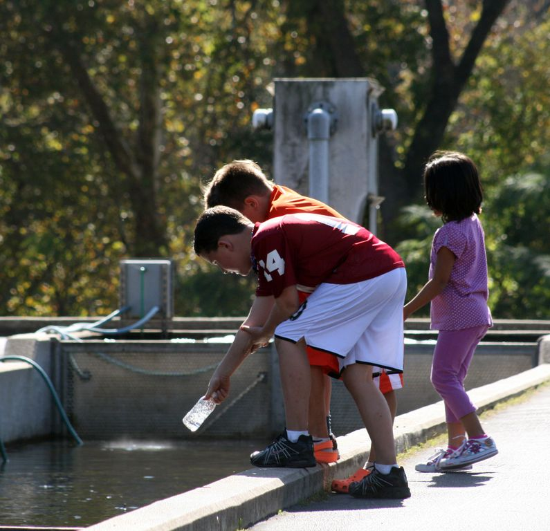 The kids enjoy the fish hatchery. Photo courtesy BCC.