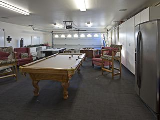 California Desert house photo - Garage turned game room flat screen HDTV, Foosball, Air Hockey, and Ping Pong