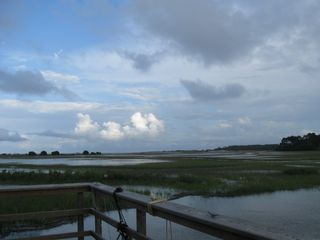 Harbor Island condo photo - Harbor Island crabbing dock: enjoy a gorgeous marsh view while crabbing!