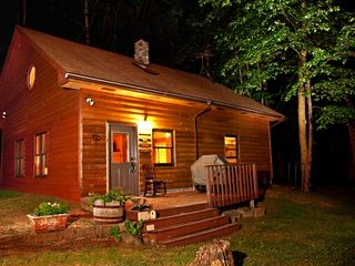Grand Rapids cabin photo - Exterior at night.