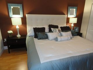 Sunny Isle condo photo - Master Bedroom- King Size bed- Plush Bedding