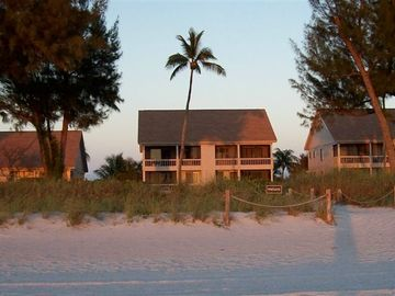 Captiva Island cottage rental - Beach Cottage Lower Left at Sunset