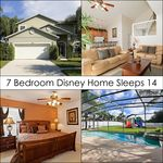 7 Bedroom 6.5 Bath Vacation Home With 5 Master Bedroom Suites!!! Disney Awaits!