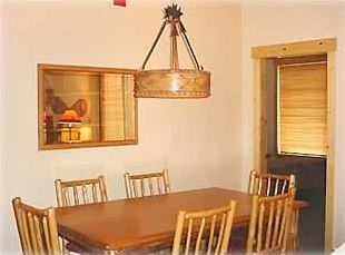 Larger dining space & table that comfortably seats 6
