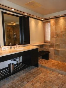 Master bath with walk-in shower
