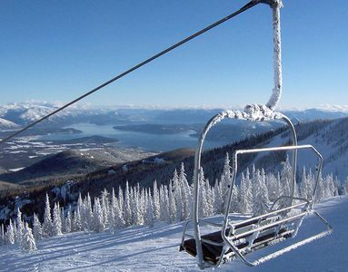 Views from around Sandpoint: From Schweitzer Lift over the lake.