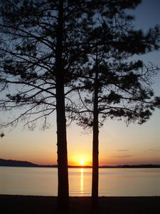 Greenville house rental - Sunset at Lily Bay State Park