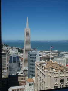 San Francisco apartment rental - Master Bed Room View TransAmerica Building