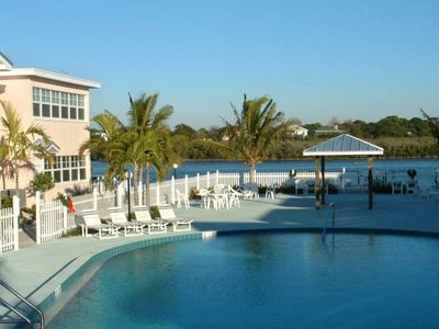 Large Private Heated Pool with view of the Intracoastal