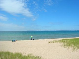 One of the many beaches in the Harbor Springs/ Petoskey area
