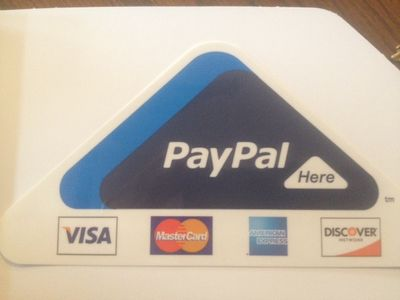 We take credit cards via PayPal