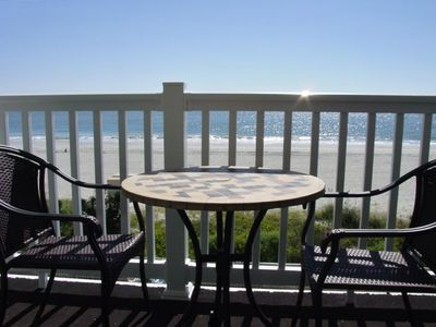 Large oceanfront balcony with spectacular view.