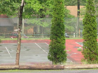 Our tennis courts. Bring your own racket and tennis balls.