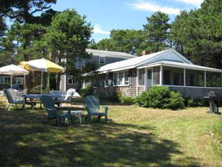 West Dennis house photo - Spacious and private back yard.