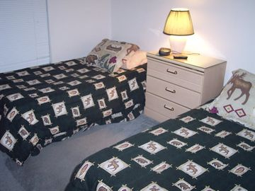 Bedroom #3 has two Twin Beds and dvd/vcr combo w/cable TV